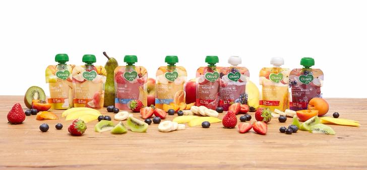 Gratis Proefpakket Olvarit met 6 fruit knijpzakjes
