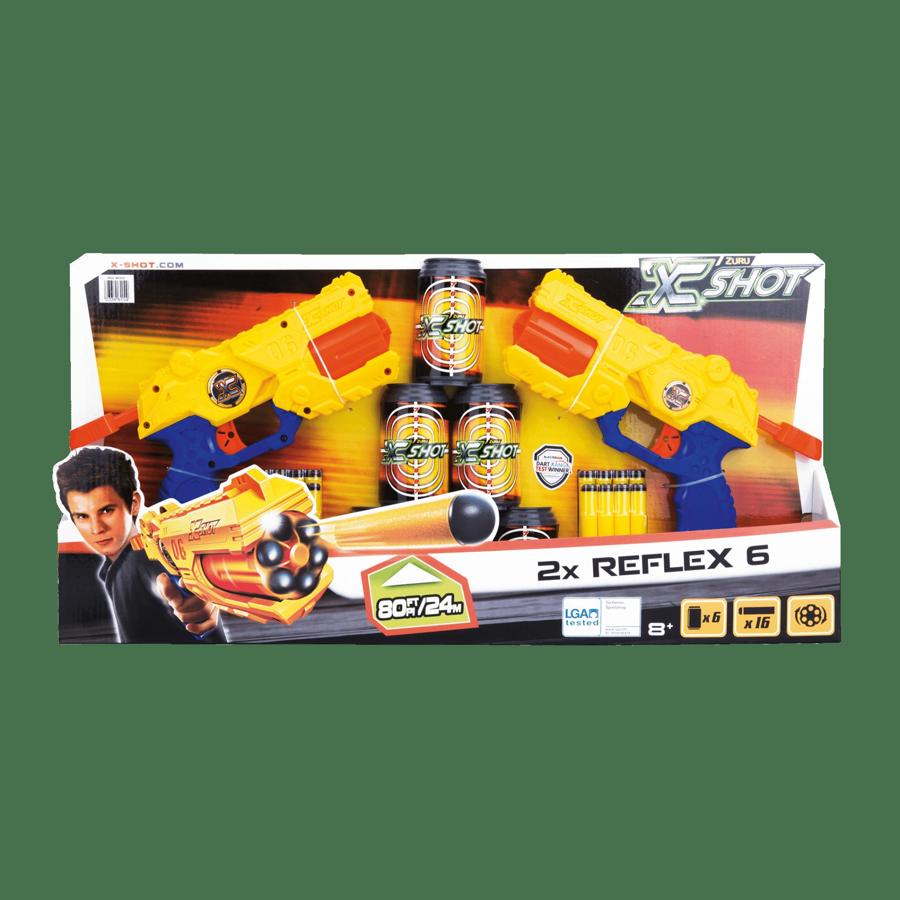Nerf gun X-Shot Excel Reflex blaster TK-6 2 stuks voor €14,99