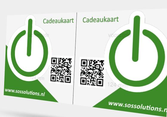 SOS Solutions Cadeaukaart voor €75