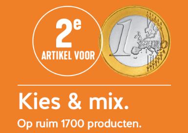 2de product voor €1