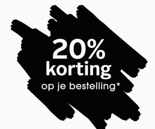 20% korting op je bestelling