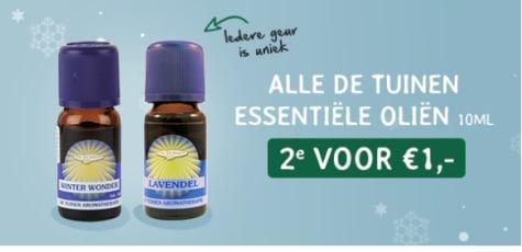 De Tuinen Essentiële Olie de 2e voor €1