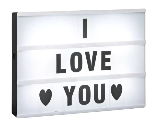 Lichtbox met 85 letters en tekens voor €4,99