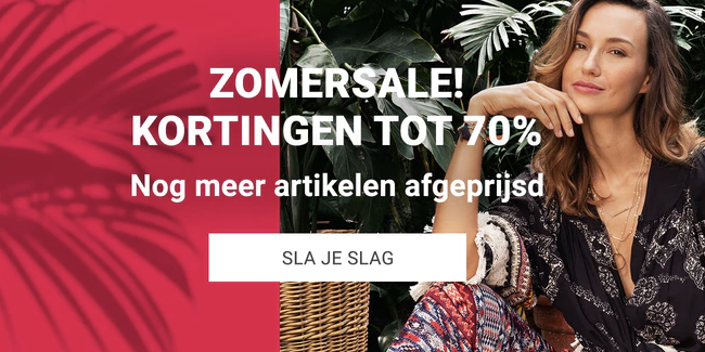 Summer sale tot 70% korting + 10% extra korting dmv code