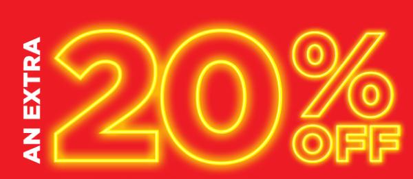 20% extra Korting bij bestellingen via de app