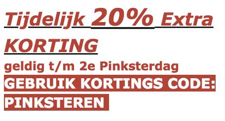 Pak 20% extra korting bij Onlinehondenspeciaalzaak