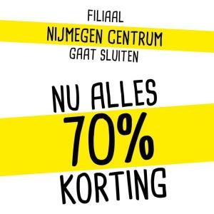 Xenos Nijmegen Centrum 70% korting op alles