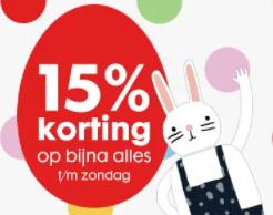 15% korting bij Hema bij aankoop van €15