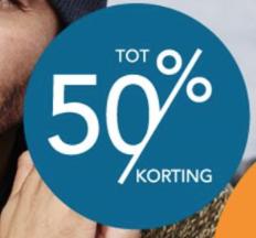Sale met kortingen oplopend tot -50%