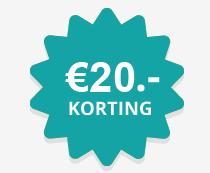 €20 korting op een minimale besteding van €250