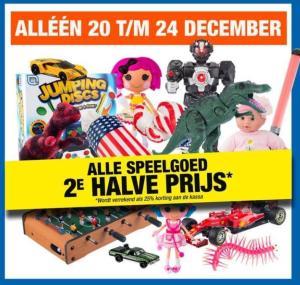 Alle speelgoed 2e voor de halve prijs Big Bazar