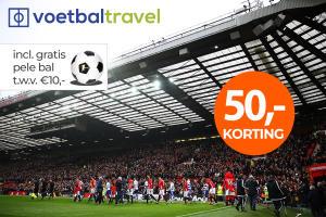 €50 korting op een boeking voor een Premier League voetbalreis