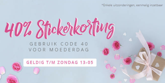40% stickerkorting bij Agradi