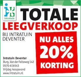 Intratuin Deventer 20% korting op alles