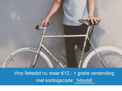 Vinz fietslot voor €12 incl. gratis bezorging