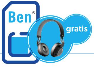 Bij een Ben sim-only abonnement Jabra Move Wireless koptelefoon Gratis