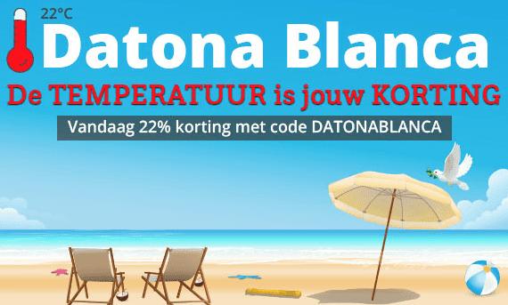 22% korting op alles bij Datona