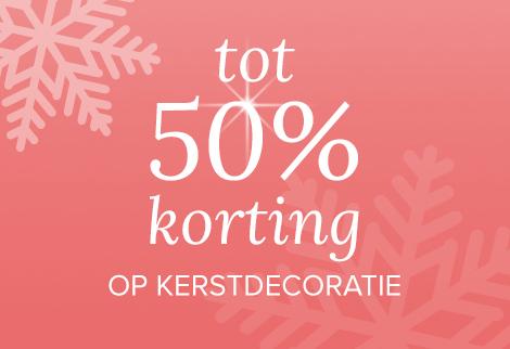 tot -50% korting op kerstdecoratie bij kijkshop
