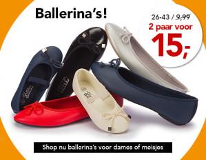 2 paar ballerina's voor €15