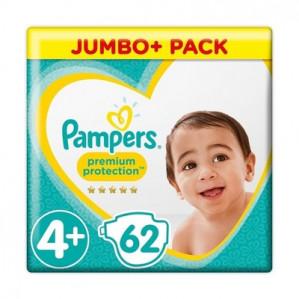 Pampers jumbo pack 62 stuks voor €12,50