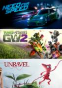 EA Family Bundle, Need for Speed Plants vs. Zombies GW2 en Unravel voor €9,99