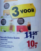 3 Dozen Dolce Gusto voor €10,60