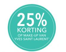 Make-up producten van Yves Saint Laurent 25% korting