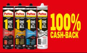 Pattex verschillende acties voor gratis producten dmv cashback