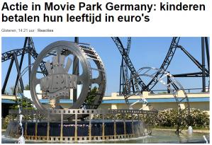 Entree ticket Moviepark Germany kinderen tm 11 jaar betalen hun leeftijd op vrijdagen