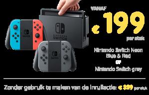 Inruil actie Nintendo Switch vanaf €199