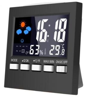 Loskii DC-001 Digitale LCD-weerstation met klok voor €3,68