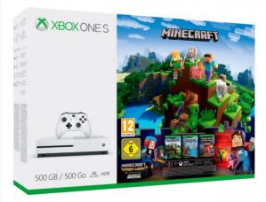 Xbox One S 500GB + Minecraft Complete Adventure voor €161,10