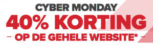 Cyber Monday: 40% korting op alles