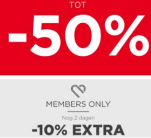 Tot 50% korting bij M&S mode (+10% extra korting voor members)