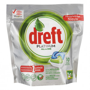 Dreft platinum all in one 10 stuks voor €1