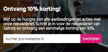 Ontvang 10% korting op je bestelling bij Salinto