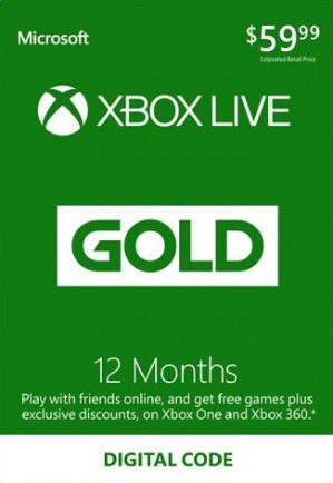 Xbox Live 12 maanden gold voor €34,65 dmv code