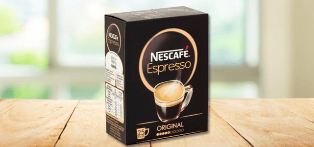 Probeer Nescafe Espresso sticks 25 stuks van €2,59 voor €1 dmv cashback