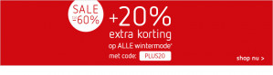 60% + 20% extra korting op de wintersale