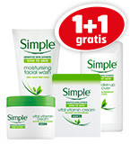 1+1 gratis op alle Simple producten