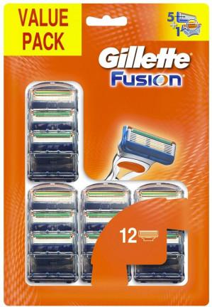 Gillette Fusion - 12 stuks - Scheermesjes voor €29,99