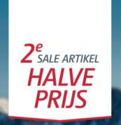 Bever sale tweede sale-artikel halve prijs