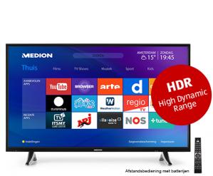 """MedionUltra HD Smart-TV met HDR 123,2 cm (49"""") voor €399"""