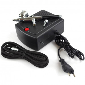 Hofftech Airbrush / Mini Airbrush Compressor 220v inclusief opbergkoffer voor €67,50