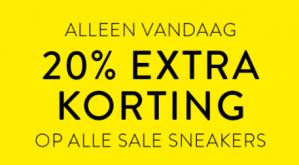 Man At Work sale met 20% korting op alle sneakers