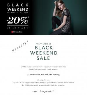 Black friday weekend bij street one met 20% Korting