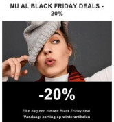 Black Friday deals met 20% extra korting dmv code