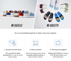 Tot 20 euro korting op Mi Gazelle en Mi Adilette producten