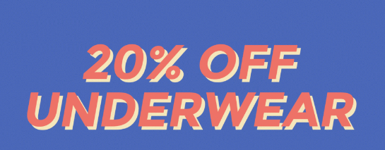 20% korting op ondergoed