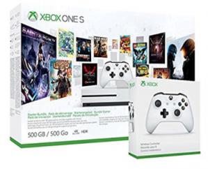 Xbox One S 500GB + 3 maanden Xbox Live + 3 maanden Game Pass + Extra controller voor €208,94